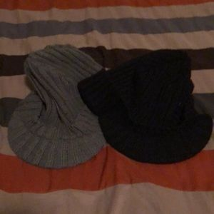 Two Old Navy Beanie Hats